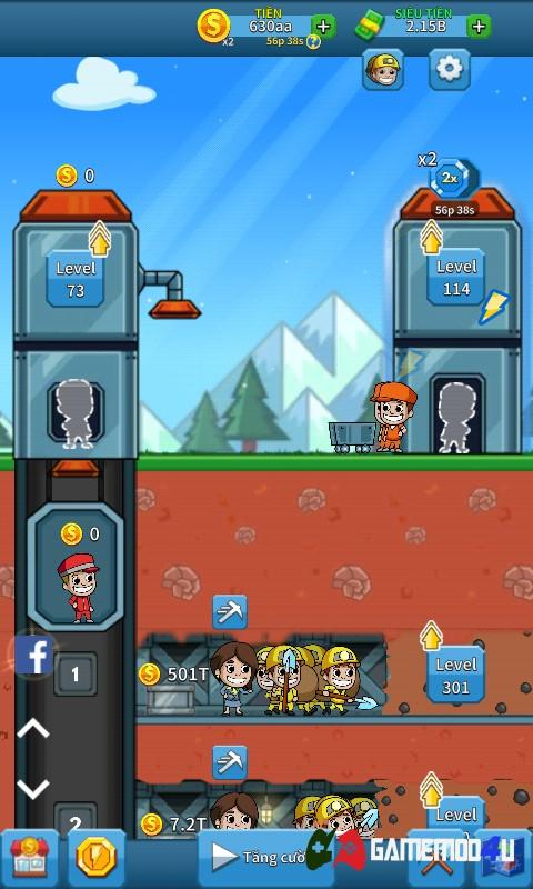 Hình ảnh trong game Idle Miner Tycoon mod full tiền