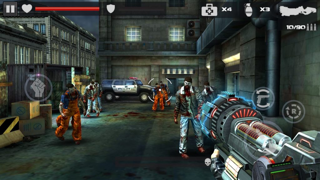 Hình ảnh trong tựa game DEAD TARGET Zombie mod full tiền