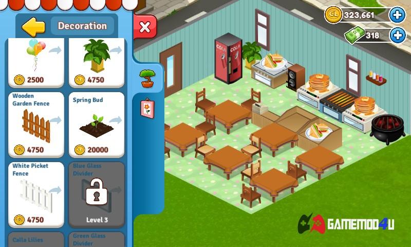 Tải hack Cafeland - World Kitchen mod full tiền về máy điện thoại Android