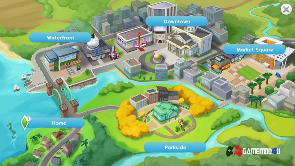 Hình ảnh trong game hack The Sims Mobile full tiền dành cho điện thoại Android