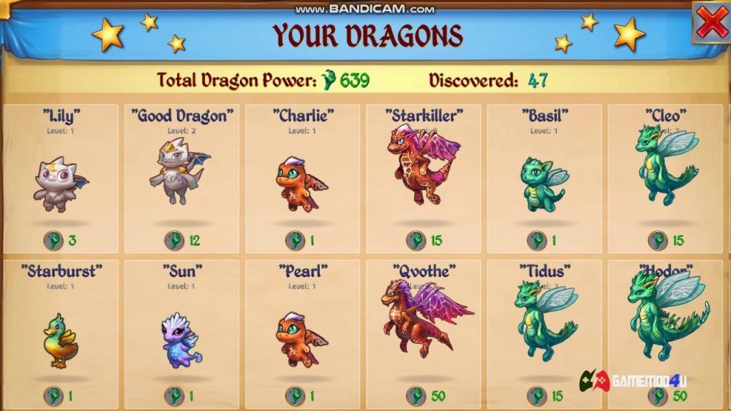 Hình ảnh về thông tin những chú rồng tựa game này