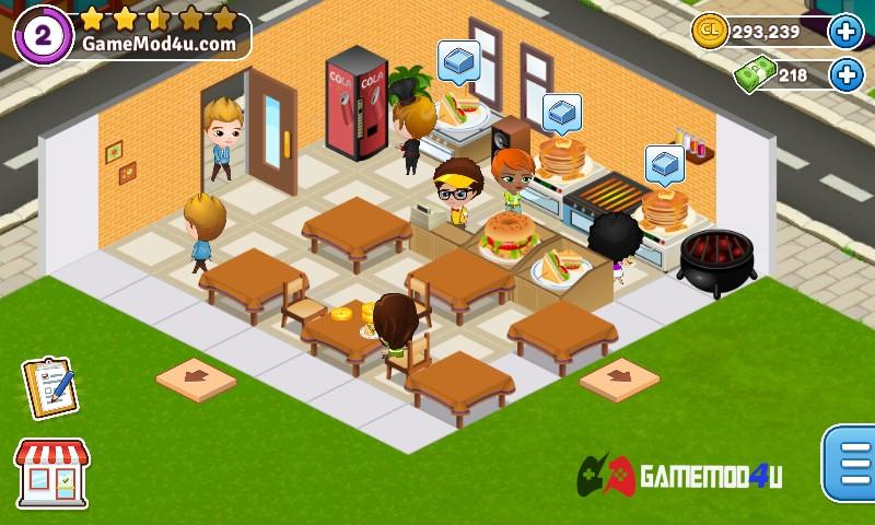 Hình ảnh trong game Cafeland - World Kitchen mod full tiền