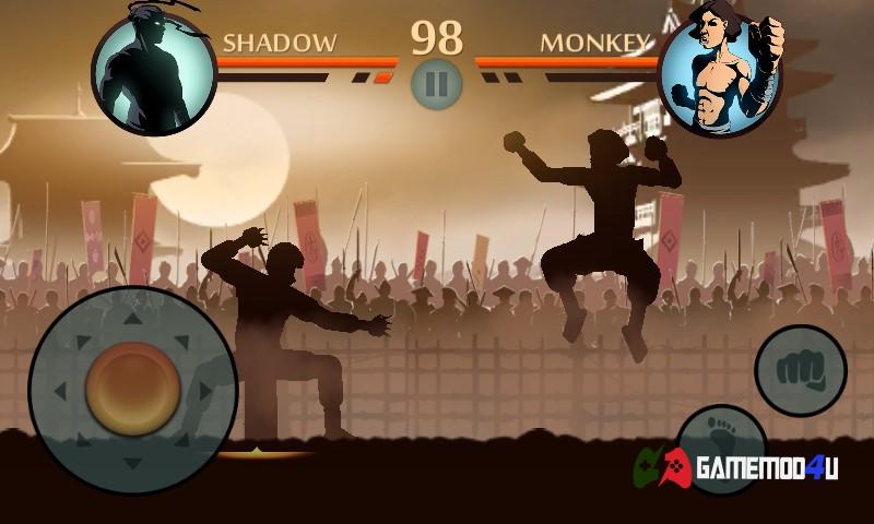 Những pha đối kháng vô cùng thú vị và hấp dẫn trong Shadow Fight 2 hack apk mod full tiền