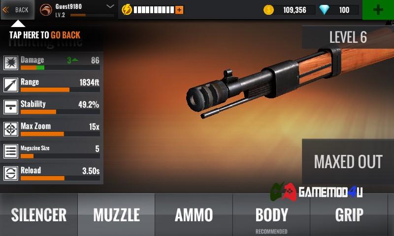 Hình ảnh tựa game bắn súng Sniper 3D Assassin mod full tiền