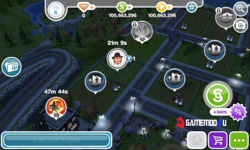 Hình ảnh tựa game hack The Sims FreePlay mod full Lifestyle,Social,Simoleons dành cho điện thoại