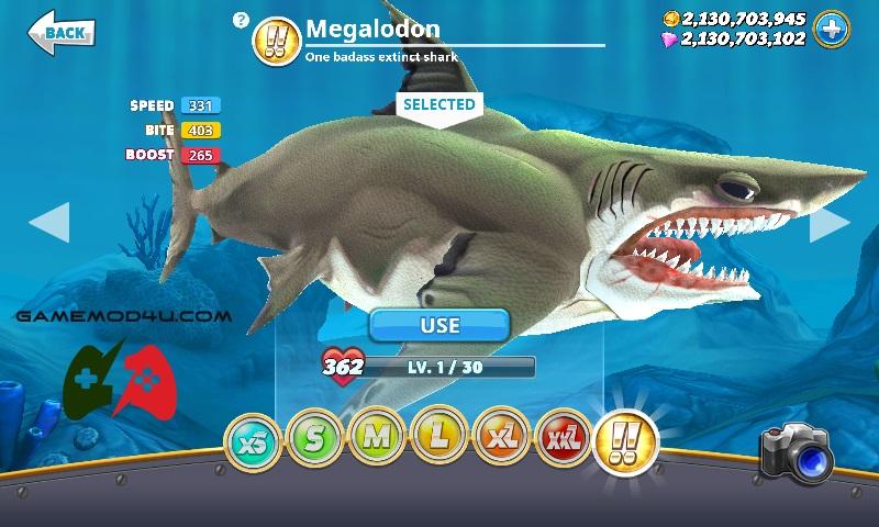 Tải hack Hungry Shark mod full tiền