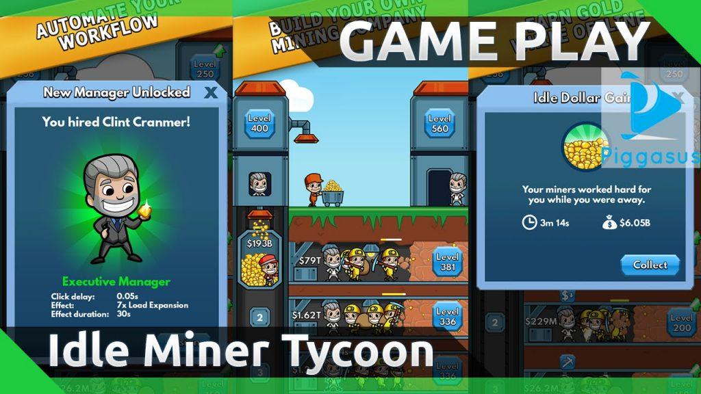 Click vào link bên trên để tải hack Idle Miner Tycoon full tiền nhé