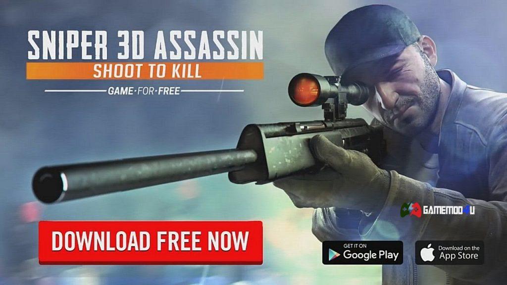 Tải hack Sniper 3D Assassin mod full tiền dành cho điện thoại