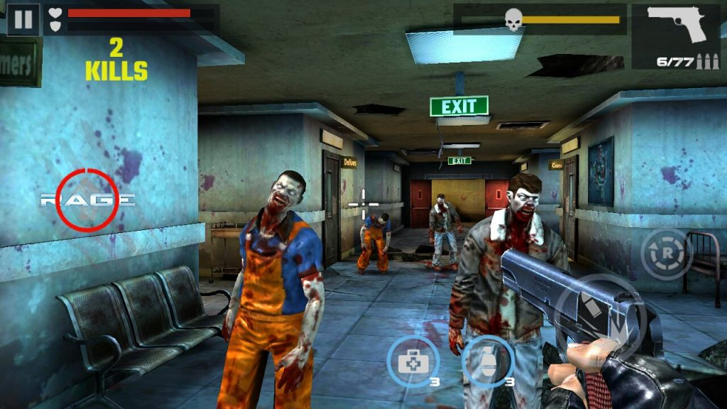 Hình ảnh trong tựa game hack DEAD TARGET Zombie full tiền