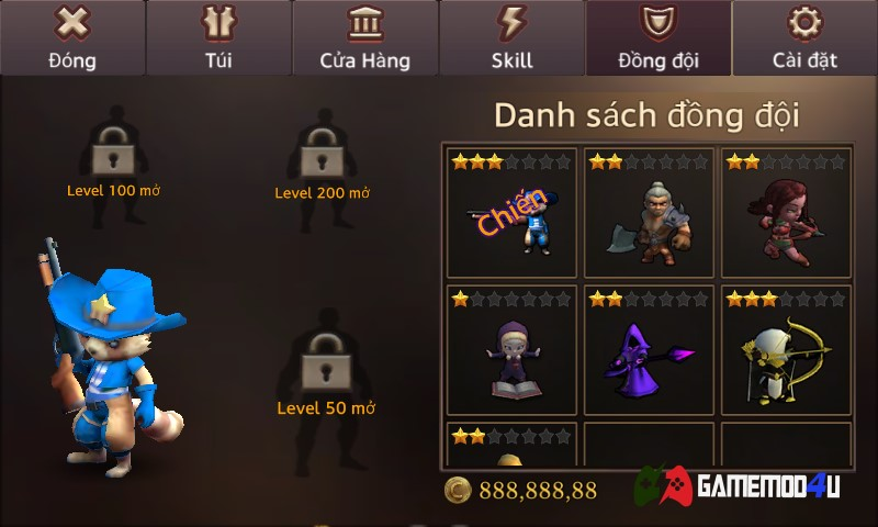 đồng đội Dungeon Chronicle hack