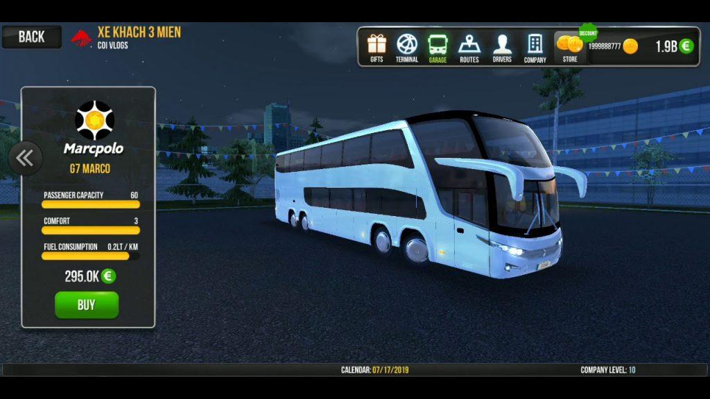 hỉnh ảnh Bus Simulator hack full tiền
