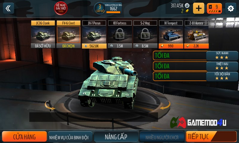 Tank Battle Heroes hack full tiền