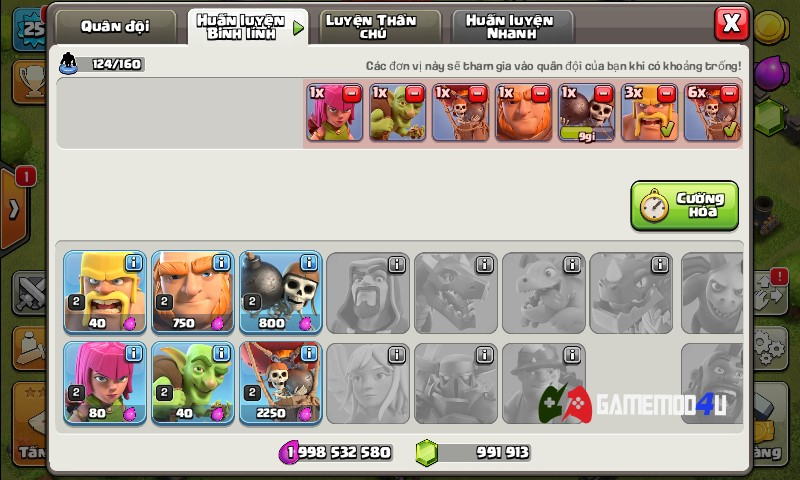 binh lính Clash of Clans hack