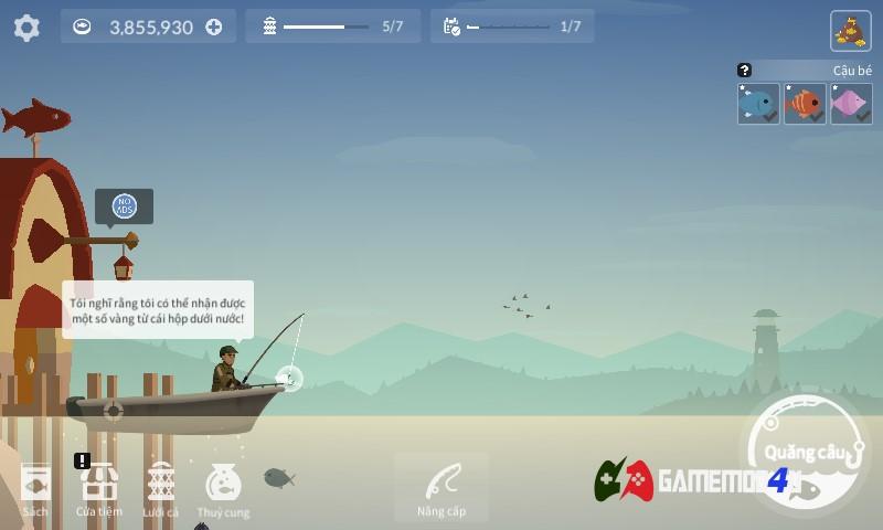 Hình ảnh tựa game Fishing Life hack full tiền cho điện thoại Android