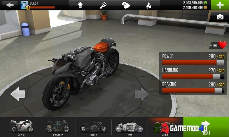 hình ảnh Traffic Rider hack full tiền cho Android