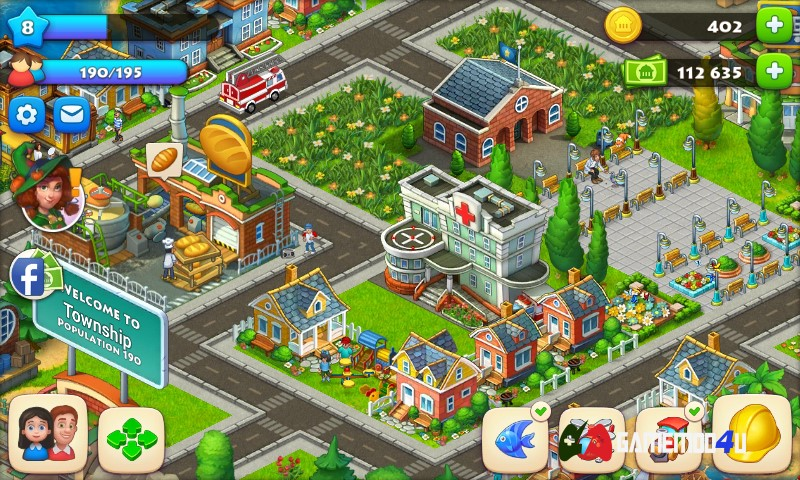 cách chơi lại từ đầu game township