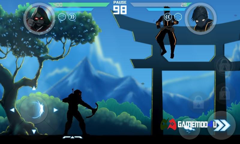 Hình ảnh trong tựa game đối kháng Shadow Battle hack full tiền cho điện thoại