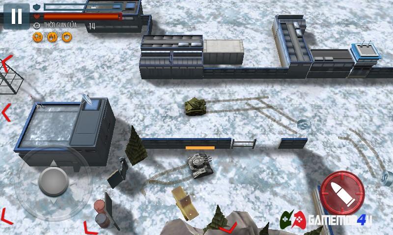 Hình ảnh trong tựa game bắn tank vô cùng thú vị và hấp dẫn này