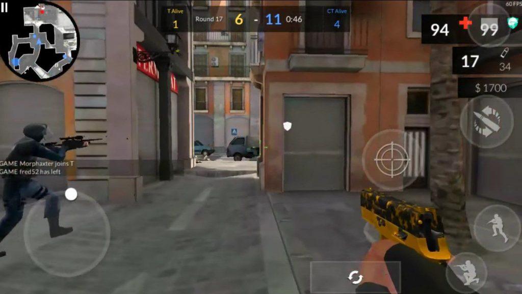 Hình ảnh trong tựa game Critical Ops hack dành cho điện thoại Android