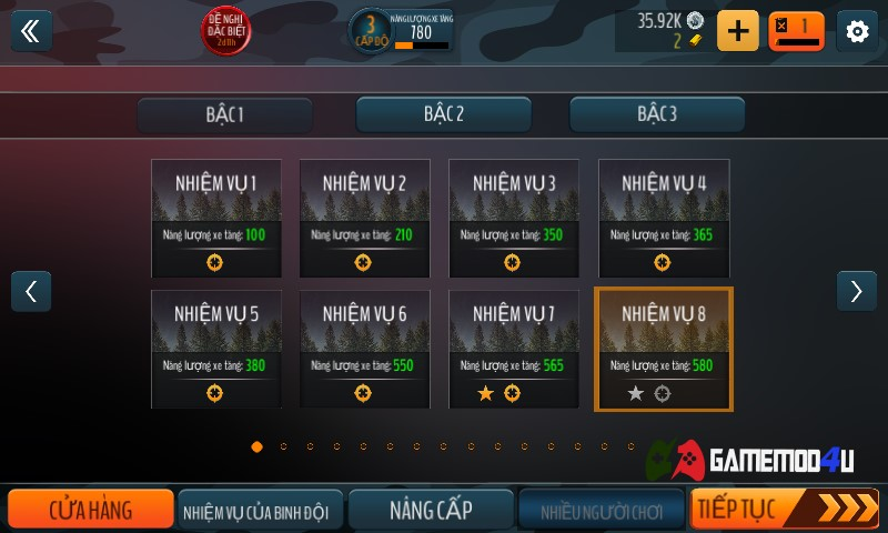 Có rất là nhiều nhiệm vụ trong tựa game Tank Battle Heroes hack này cho các bạn làm luôn