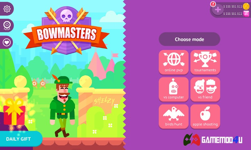 Bowmasters hack full tiền