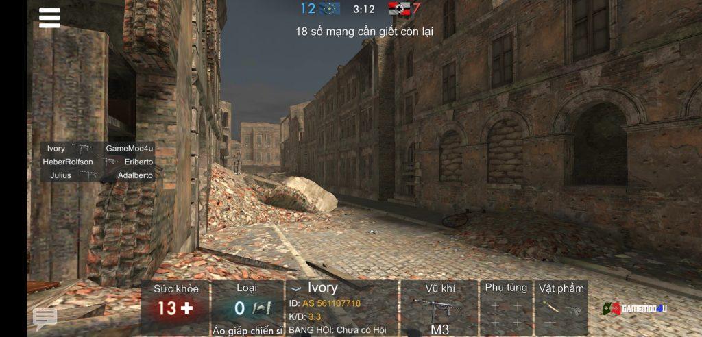 World War Heroes mod infinity đạn