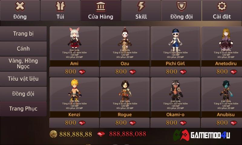 Dungeon Chronicle Mod v2 44 Full tiền [Hack money] - GameMod4u