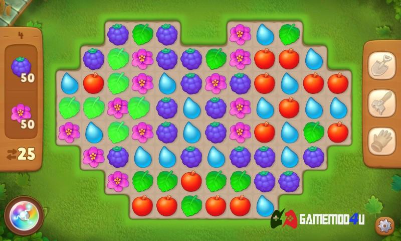 Trò chơi trong tựa game Gardenscapes