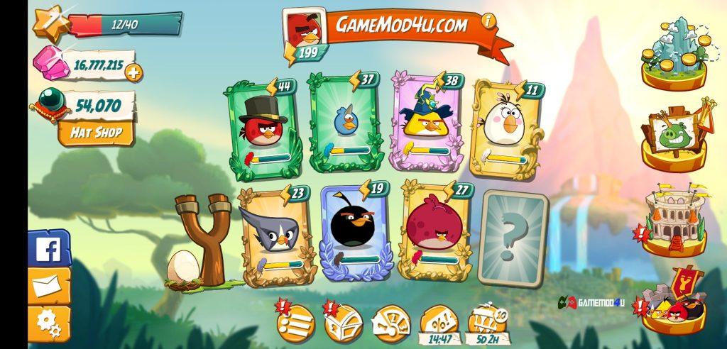 Các loài chim trong Angry Birds 2 hack full tiền