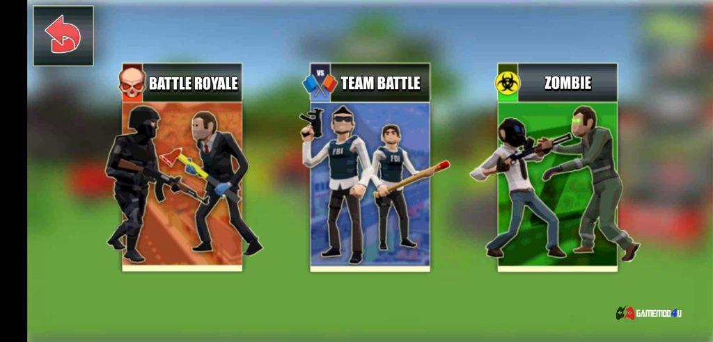Có 3 chế độ chơi trong Battle Royale FPS Shooter