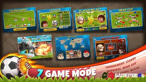 Các chế độ chơi có trong game Head Soccer