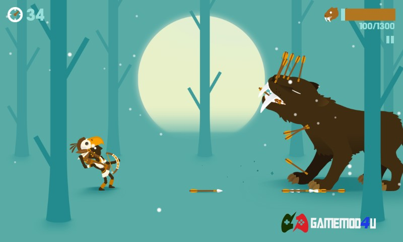 Hình ảnh chiến đấu với động vật hoang dã trong Big Hunter