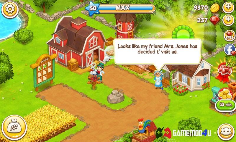 Farm Town Happy farming Day Hack v3.47 (Mod money)