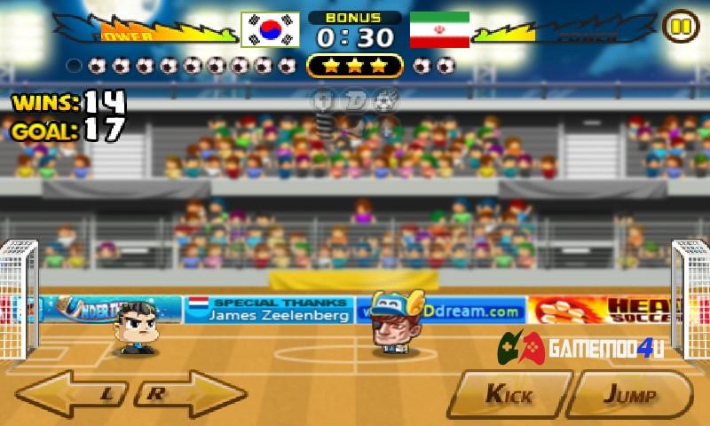 Hình ảnh trong game Head Soccer trên điện thoại Android