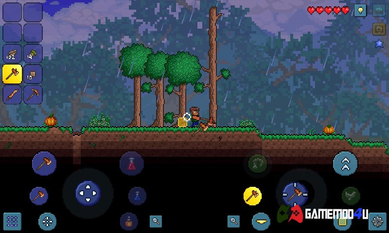 Hình ảnh trong game Terraria mobile trên điện thoại Android