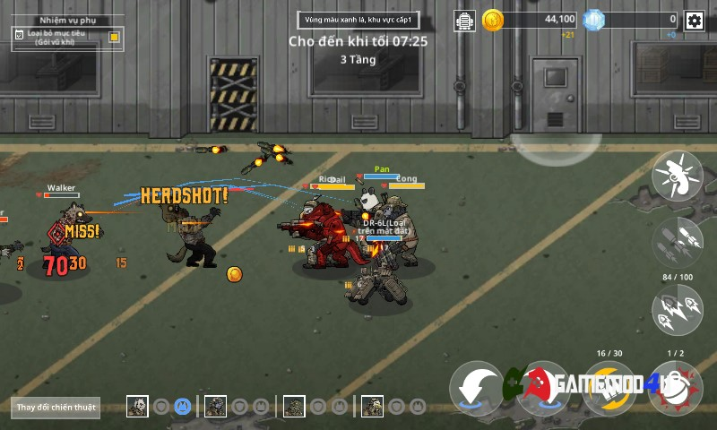 Khu vực chiến đấu trong game