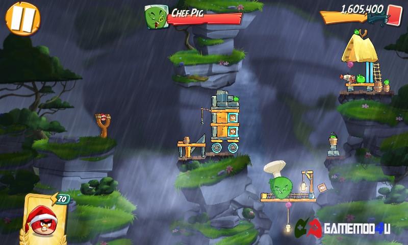 Hình ảnh trong game Angry Birds 2 hack full tiền