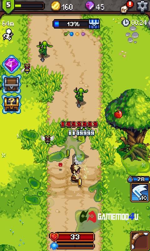 Hình ảnh trong game Dash Quest Heroes hack full dame và bất tử