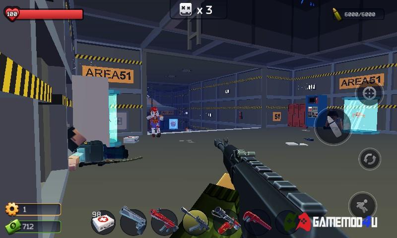 Hình ảnh trong game Pixel Combat mod full tiền