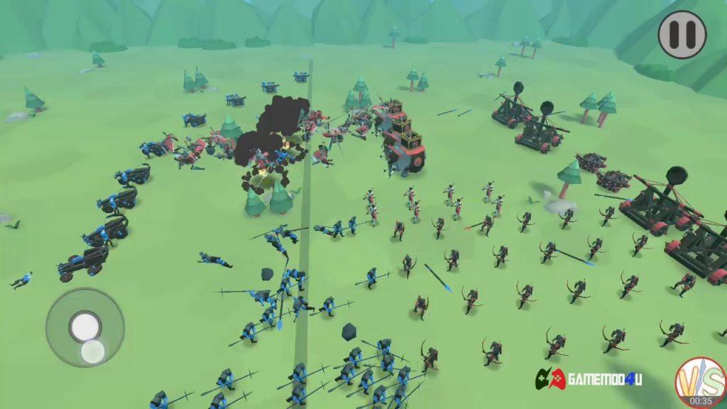 Hình ảnh trong game chiến thuật Epic Battle Simulator 2