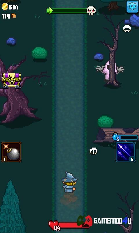 Hình ảnh trong game hành động phiêu lưu Dash Quest