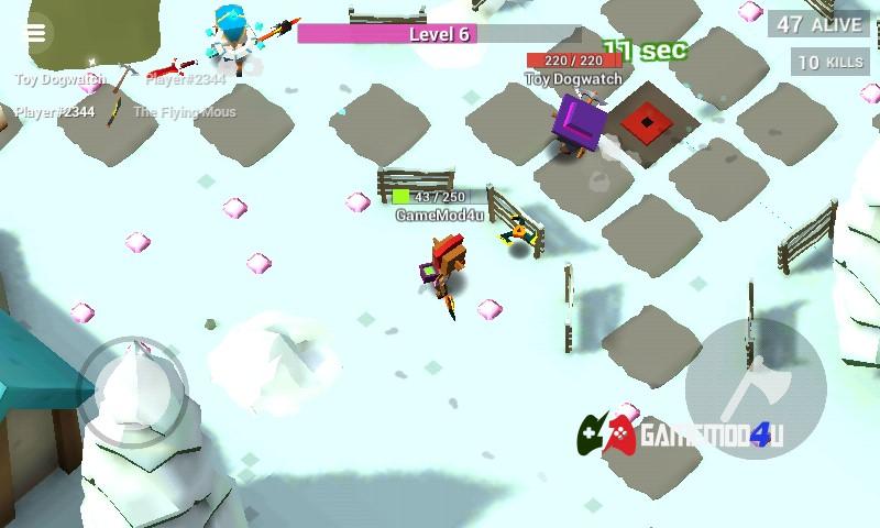 Hình ảnh trong tựa game AXES.io hack full tiền