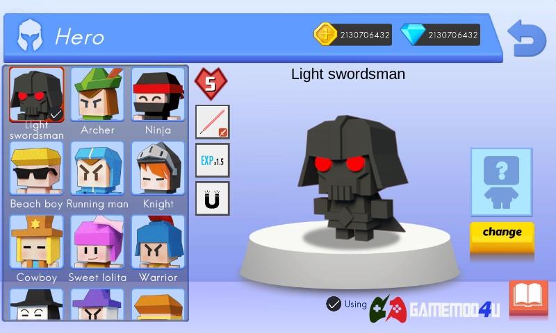 Nhân vật trong game Arrow.io mod