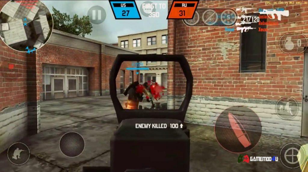 Nhắm bắn súng trong game Bullet Force