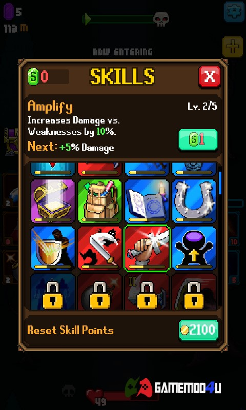 Những skill trong tựa game Dash Quest hack full tiền