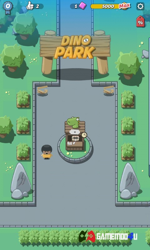 Tựa game Crazy Dino Park hack full tiền đã được mình test rồi nhé