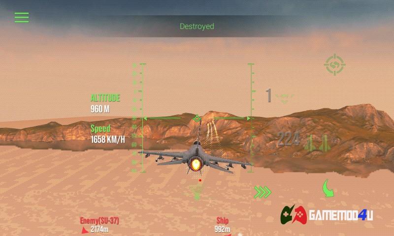 Modern Warplanes Hack APK Full tên lửa (Mod đạn)