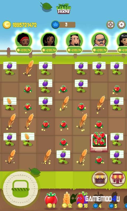 Đã test tựa game hack Merge Farm full tiền cho Android