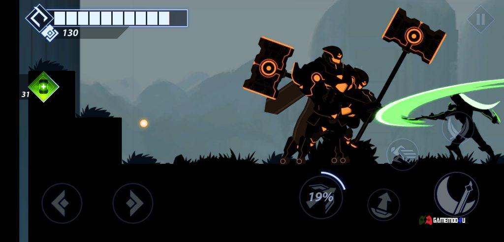 Tải Overdrive Ninja Shadow Revenge Hack v1.8.4 Full tiền