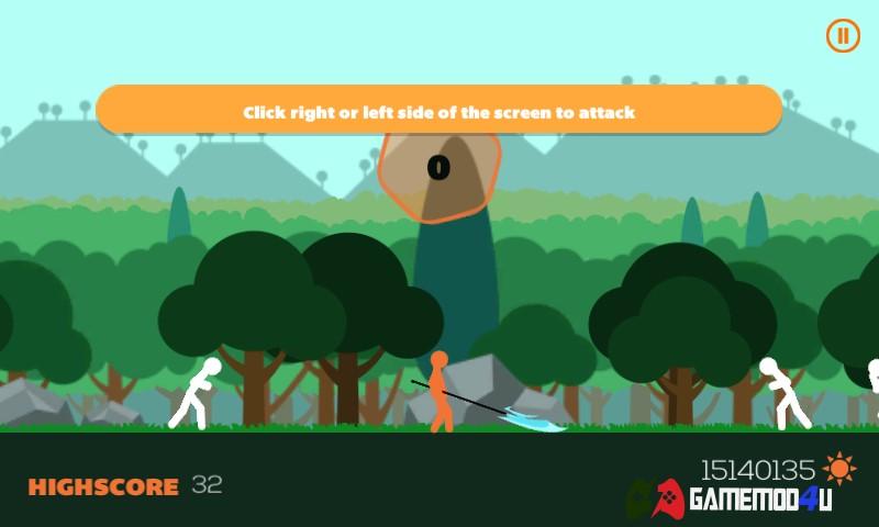 Hình ảnh trong game Stick Fight hack full tiền dành cho điện thoại Android